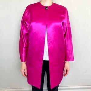 Diane Von Frustenberg hot pink satin jacket. 💗